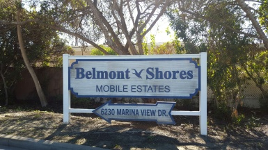 Belmont Shores Mobile Estates Sign