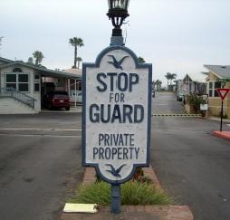 Guard Gate Sign